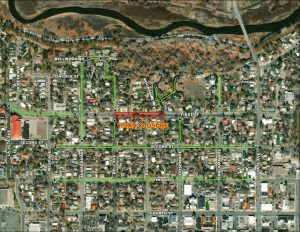 Map of First Street closure