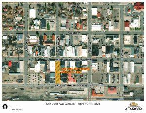 San Juan Ave Closure